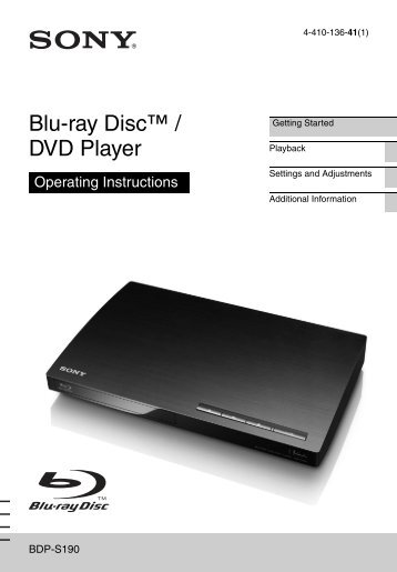 Blu-ray Disc™ / DVD Player - Sony Store, Online(Hong Kong)
