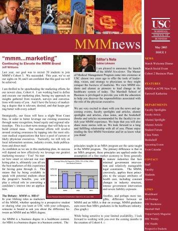 MMMnews - USC Marshall - University of Southern California