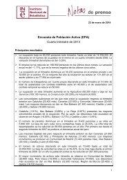 Encuesta de Población Activa (EPA) Cuarto trimestre de 2013