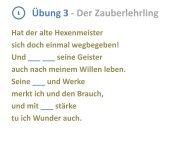 Übung 3 - Der Zauberlehrling - Onilo.de