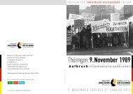 9. November 1989 - Museum für Thüringer Volkskunde Erfurt