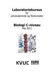 Laboratoriekursus Biologi C-niveau - KVUC