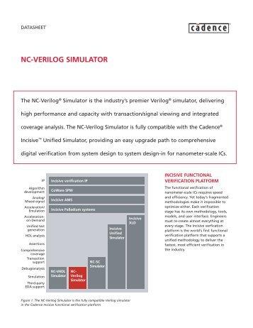 NC-VERILOG SIMULATOR - Cadence - Cadence Design Systems