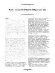Novosti v zdravljenju metastatskega raka debelega ~revesa in danke