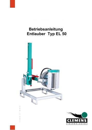 Betriebsanleitung Entlauber Typ EL 50 - Clemens Gmbh & Co. KG