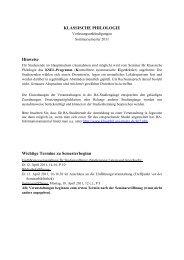 Seminar für Klassische Philologie