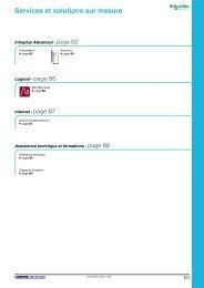 Services et solutions sur mesure - e-Catalogue - Schneider Electric