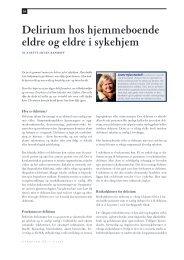 Delirium hos hjemmeboende eldre og eldre i sykehjem - Utposten