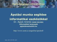 Az ápolás támogatása informatikai eszközökkel