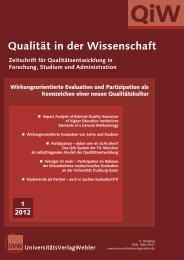 Heft 1 / 2012 - UniversitätsVerlagWebler