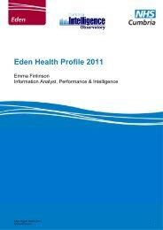 Eden Health Profile 2011 - NHS Cumbria