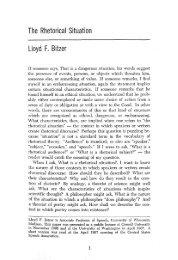 The Rhetorical Situation Lloyd F. Bitzer