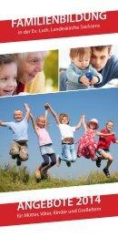 Jahresprogramm Familienbildung 2014 - EAF Sachsen eV
