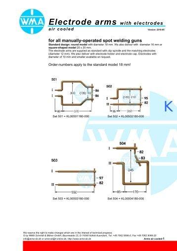 electrode arm - WMA Schmidt & Bittner GmbH