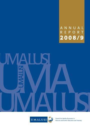UMALUSI 2008/09 Annual Report - Parliamentary Monitoring Group