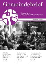 Ausgabe 117, Juni 2013 - Ev. Kirchengemeinde Lauffen