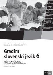 Gradim slovenski jezik 6 (posodobljena izdaja 2011) - rešitve ...