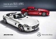 Liste de prix SLS AMG - Mercedes-Benz in België