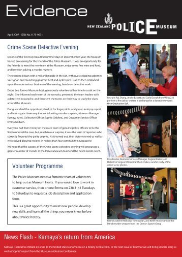Crime Scene Detective Evening - New Zealand Police