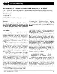 O Currículo e o Ensino em Escolas Médicas da Europa