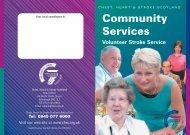 VSS leaflet 2004 - Chest Heart & Stroke Scotland