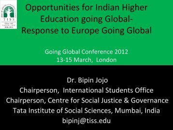 Opportunities for Indian Higher Education Global Going Global ...