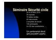 Séminaire Sécurité civile