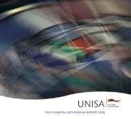 vice-chancellor's annual report 2008 - University of South Africa