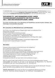gesundheits- und krankenpfleger/innen ... - LVR-Klinik Köln