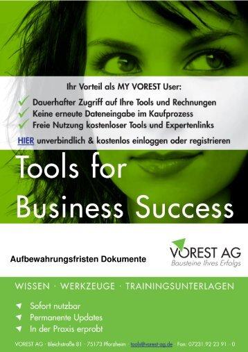 Aufbewahrungsfristen Dokumente - Vorest AG