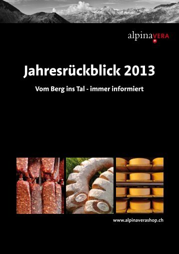 Jahresrückblick 2013 - Alpinavera
