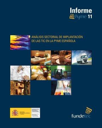 Análisis sectoriAl de implAntAción de lAs tic en lA pyme espAñolA
