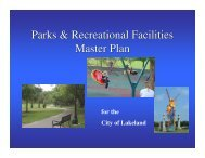 Parks & Recreational Facilities Master Plan Parks ... - City of Lakeland