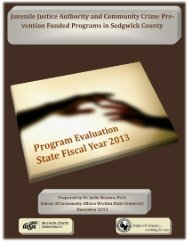 Program Evaluation for State Fiscal Year 2012 - Sedgwick County