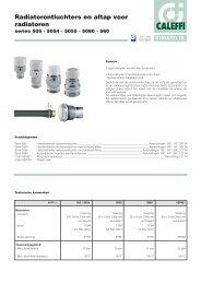 Radiatorontluchters en aftap voor radiatoren - Caleffi