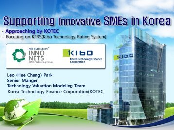 Supporting Innovative SMEs in Korea - Vinnova