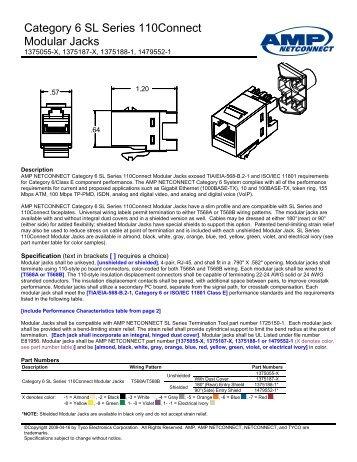 Category 6 SL Series 110Connect Modular Jacks - Accu-Tech