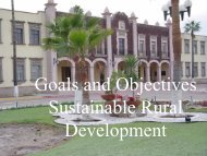 Goals and objectives Sustainable Rural Development