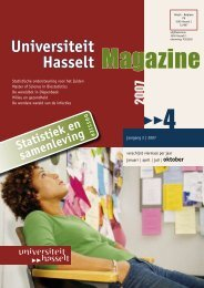Master of Science in Biostatistics - UHasselt