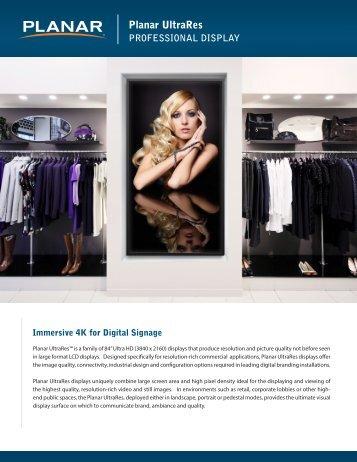 Planar UltraRes Digital Signage Brochure