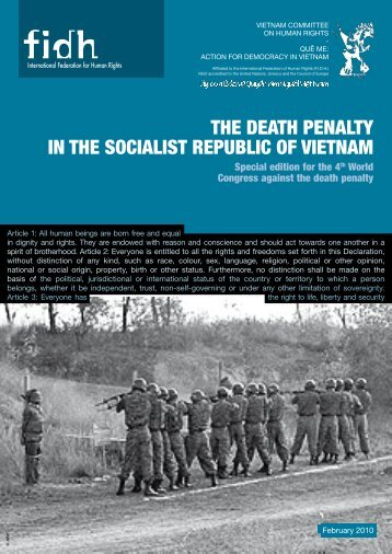 The DeaTh PenalTy in The SocialiST RePublic of VieTnam - FIDH