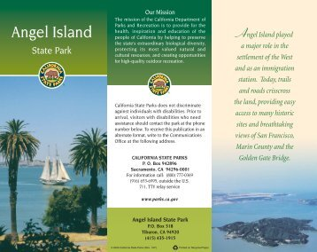 Angel Island is a grass - California State Parks