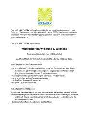 Mitarbeiter (m/w) Sauna & Wellness - CCB Herzwerk