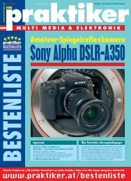Sony Alpha DSLR-A350: Amateur ... - Praktiker.at