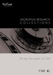 microfilm research collections - ProQuest