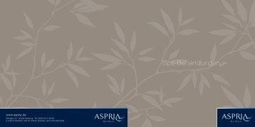 Spa-Behandlunge - Aspria