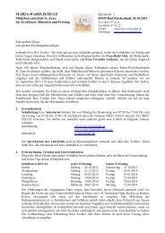 Elternbrief zum Schuljahresbeginn 2013 5. Klasse - Maria-Ward ...