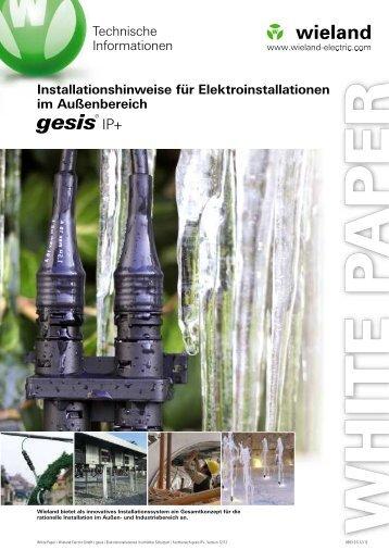 Installationshinweise - Wieland Electric