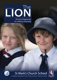 The Lion Autumn Edition 2013 - St Mark's Church School
