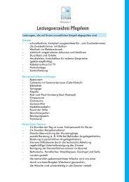 Leistungsverzeichnis Pflegeheim - Budge-Stiftung